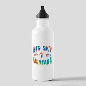 Big Sky Skier Tie Dye Stainless Water Bottle 1.0L