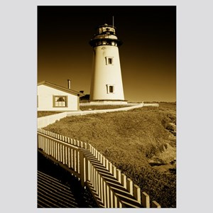 Lighthouse on a cliff, Pigeon Point Lighthouse, Ca