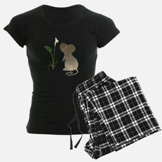 Cute Mouse and Calla lily Pajamas