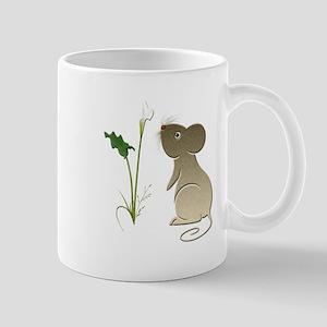 Cute Mouse and Calla lily Mug