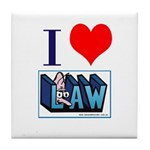 I Love Law Tile Coaster