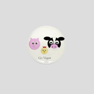 Farm Trio - Go Vegan Mini Button
