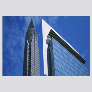Low angle view of skyscrapers Messeturm Frankfurt