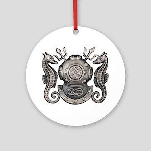 Navy Master Diver Ornament (Round)