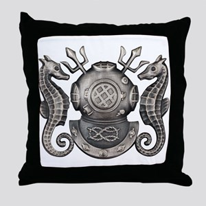 Navy Master Diver Throw Pillow