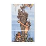 WH Robinson's Little Mermaid Rectangle Sticker