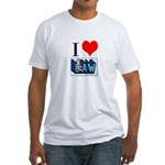 I love law Fitted T-Shirt