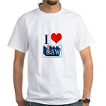 I love law White T-Shirt