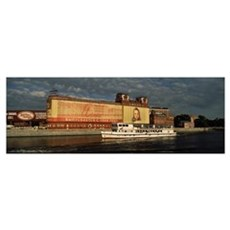 Passenger ship in a river Moskva River Moscow Russ Poster