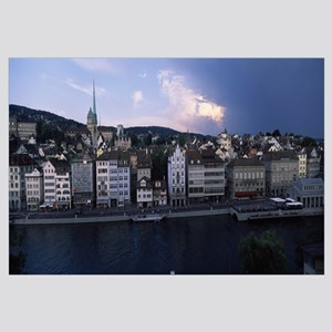 Buildings at the waterfront Limmat River Zurich Sw