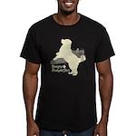 Bernese Mountain Dog Men's Fitted T-Shirt (dark)