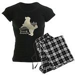 Bernese Mountain Dog Women's Dark Pajamas
