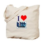 I love law Tote Bag