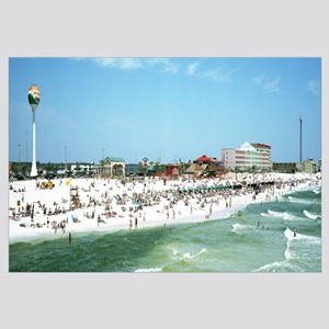 Tourists on the beach Pensacola Escambia County Fl