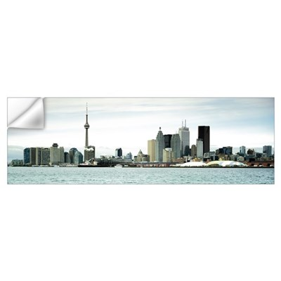 Skyscrapers at the waterfront CN Tower Toronto Ont Wall Decal