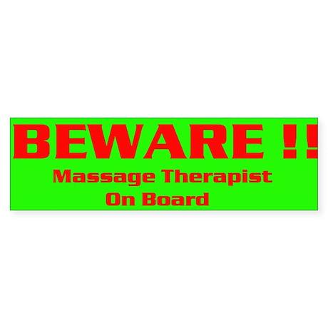 Green Beware Bumper Sticker