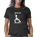 damnit.wheelchair.white Women's Classic T-Shirt