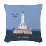 Grays Reef Light Woven Throw Pillow