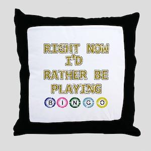 I'd rather be playing Bingo Throw Pillow