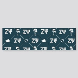 Zeta Psi Pattern Bumper Sticker