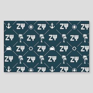 Zeta Psi Pattern Sticker