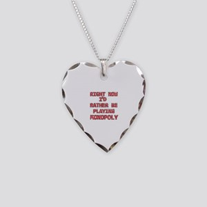 I'd rather be playing Monopoly Necklace Heart Char