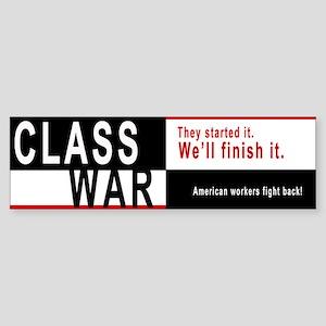 Class War Sticker (Bumper)