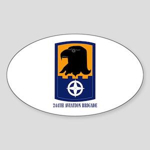 SSI - 244th Aviation Brigade with Text Sticker (Ov