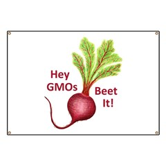 Hey GMOs Beet It Banner