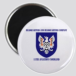 SSI - HHC-11th Aviation Command with text Magnet