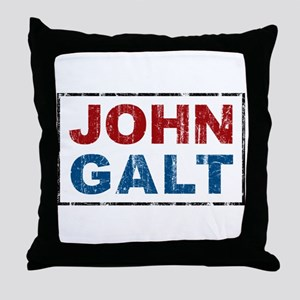 John Galt Throw Pillow
