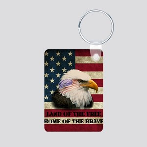 USA Eagle Aluminum Photo Keychain