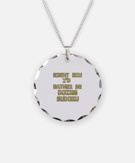 I'd rather be playing Sudoku Necklace