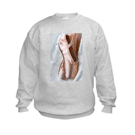 Pointe Shoes Kids Sweatshirt