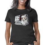 santa1_blk Women's Classic T-Shirt