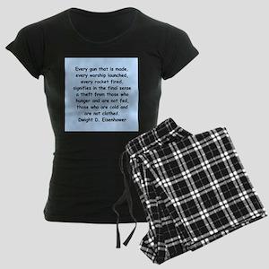 dwight eisenhower Women's Dark Pajamas