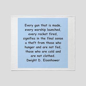 dwight eisenhower Throw Blanket