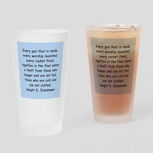 dwight eisenhower Drinking Glass