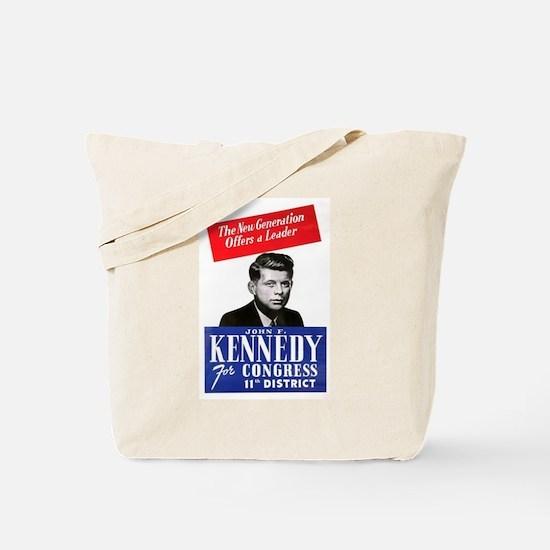 JFK for Congress 1946 Tote Bag