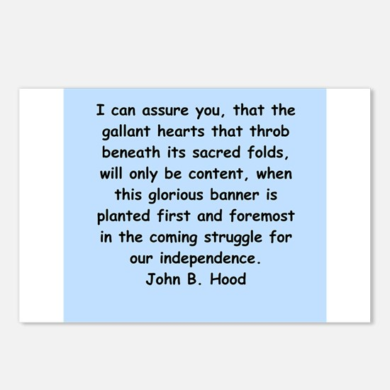 john hood quotes Postcards (Package of 8)