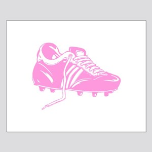 Pink Soccer Boot Design. Small Poster