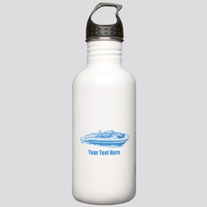 Motorboat. Add Your Text. Stainless Water Bottle 1