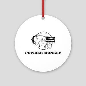 Powder Monkey Round Ornament