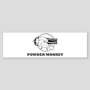 Powder Monkey Sticker (Bumper)