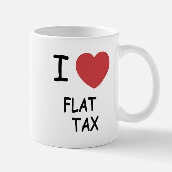 I heart flat tax Mug
