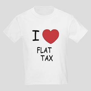 I heart flat tax Kids Light T-Shirt