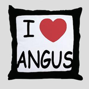 I heart angus Throw Pillow