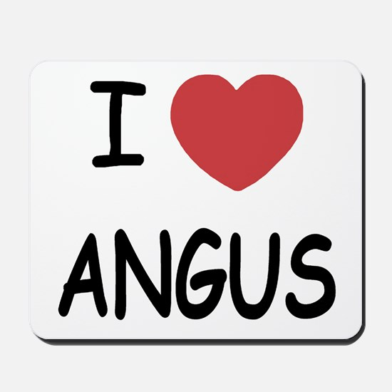 I heart angus Mousepad