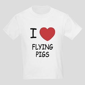 I heart flying pigs Kids Light T-Shirt