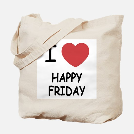 I heart happy friday Tote Bag
